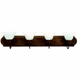 Lovely Piece of 4 Lights Vanity Lighting in Dark Brown by Yosemite Home Decor