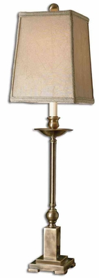 Lowell Bronze Buffet Lamp with Square Semi Drum Shade Brand Uttermost