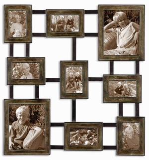 Lucho Hanging Collage Style Photo Frame With Burnished Silver Brand Uttermost