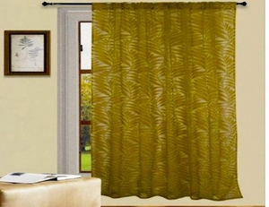 Lush Velvet Style Crushed Panel Curtain With Grommet Rings Brand Kashi