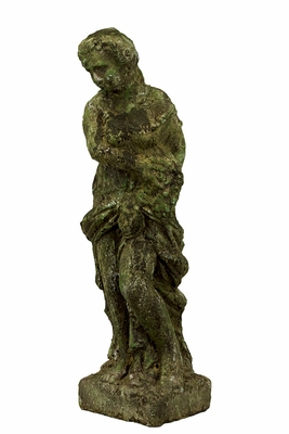 Luxuriant Stoneware Moss Finish Fancy Lady Statue by Urban Trends Collection