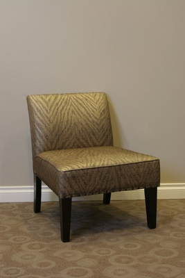 Luxurious Belinda Metallic Woven Linen Accent Chair by 4D Concepts