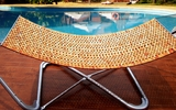 Luxury Wood Hammock Bed with Carry-on Bag by Vifah