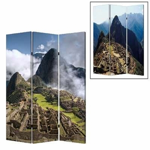 Machu Picchu 3 Panel Screen with Intricate Detailing on Canvas Brand Screen Gem