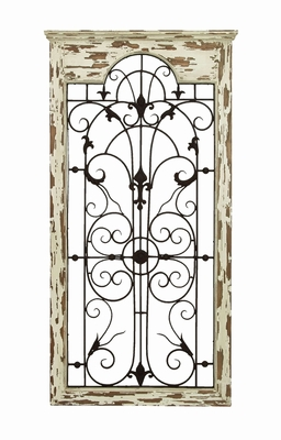 Magical Garden Wooded Gate Wall Plaque With Chipped Wood Brand Woodland