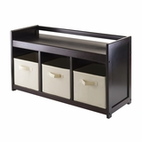 Magnificent Adddison 4pc Storage Bench with Multiple Storage Box by Winsome Woods