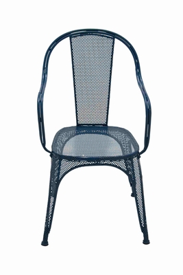 Magnificent and Brilliant Blue Metal Chair Brand Benzara