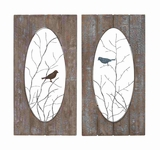 Magnificent Bird on Tree Wood Wall Panel Brand Benzara