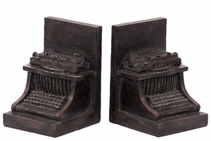 Magnificent & Delightful Set of Resin Typewriter Bookend by Urban Trends Collection