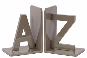 Magnificent Grey Glossy Tint Wooden Bookend