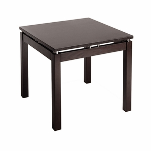 Magnificent Linea End Table with Chrome Accent by Winsome Woods