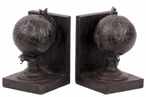 Magnificent & Outstanding Resin Globule Bookend Set of Two in Chocolate Brown