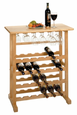 Winsome Wood Magnificent Piece of 24-Bottle Beech Wine Rack