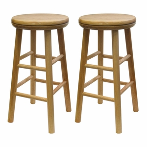 "Magnificent Set of Two 24"" Swivel Stool by Winsome Woods"