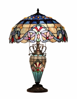 Magnificent Styled Multisided Table Lamp by Chloe Lighting