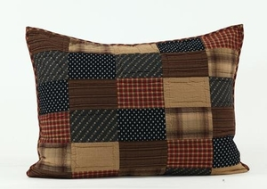 Magnificent Styled Patriotic Patch Standard Sham by VHC Brands