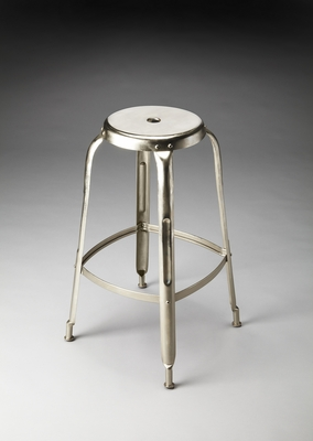 Magnificent Unique Styled Acme Iron Bar Stool by Butler Specialty