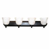 Mahogany Collection Exclusively Styled 4 Lights Vanity Lighting in Venetian Bronze by Yosemite Home Decor