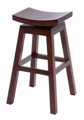 "Mahogany Solid Wooden 30"" Stylish Barstool in Dark Finish Brand Woodland"