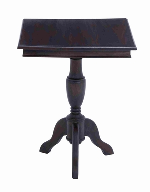 "Mahogany Square Shaped 20""W Accent Table with Magnificent Finish Brand Woodland"