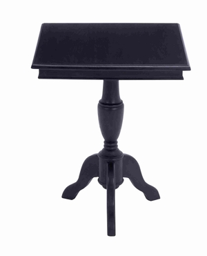 Mahogany Square Shaped Accent Table with Magnificent Finish Brand Woodland