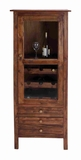 Mahogany Wood Storage Unit with 4 Wooden Drawer & 4 Sliding Doors Brand Woodland