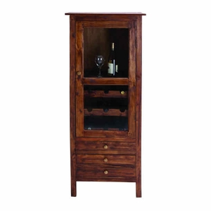 Mahogany Wood Wine Cabinet with Self Contained Cooling System Brand Woodland