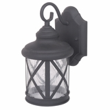 Mahony Collection Enticing Black Finish Small Size Exterior Light by Yosemite Home Decor