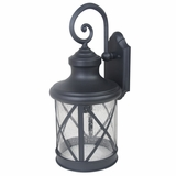 Mahony Collection Spectacular Black Finish Large Size Exterior Light by Yosemite Home Decor