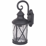 Mahony Collection Trendy Looking Medium Size Exterior Light with Seedy Glass by Yosemite Home Decor