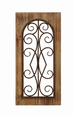 Majestic Look Wooden and Metal Wall Panel with Tan Finish Brand Woodland