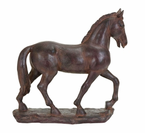 Majestic Polystone Cast Trotting Horse Decor Brand Woodland