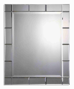 Makura Wall Mirror with Beveled Mirrored Frame Brand Uttermost