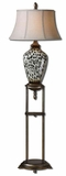 Malawi Cheetah Print Floor Lamp with Ceramic Base Brand Uttermost