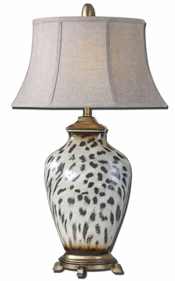 Malawi Cheetah Print Table Lamp with Detailing Brand Uttermost