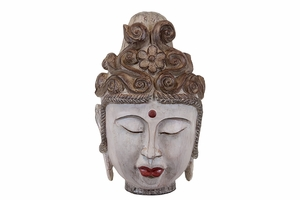 Malaysia's Serene Attractive Resin Buddha Head by Urban Trends Collection