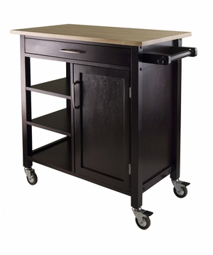 Mali Kitchen Cart with Graceful and Fashionable Finesse by Winsome Woods