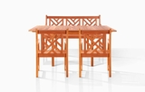 Malibu Bench-Seater Dining Set by Vifah