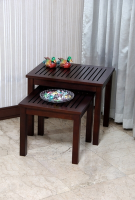 Mamurras Nesting Table Wonderfully Carved Ravishing Chic Set by D-Art