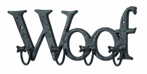 Man's Best Friend Wall Hook With Cute Woof Message Brand Woodland