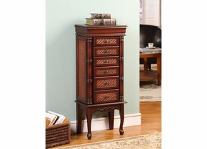 Mandalay Bay 6 Drawer Jewelry Armoire with Rust Brown Finish Brand Nathan