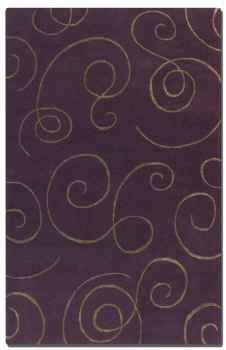 Manhattan Purple 5' Wool and Viscose Blend Accented Rug Brand Uttermost