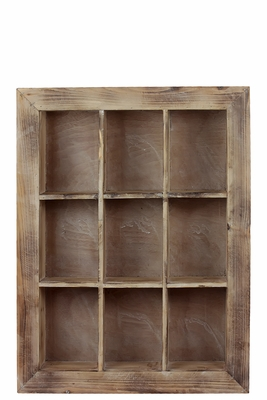 Manhattan's Classic Nine sectioned Wooden Shelf