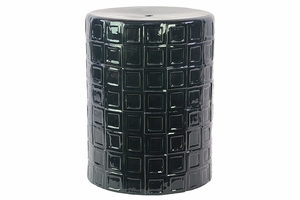 Manhattan's Classic Unique Ceramic Stool Dark Blue