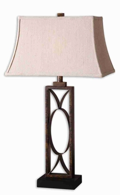 Manicopa Style Bronze Table Lamp With a Mottled Dark Finish Brand Uttermost