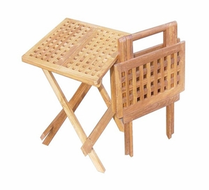 Mannheim Picnic Table, Square Shaped Charming Long-lasting Creation by D-Art