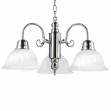 Manzanita Collection Attractive Styled 3- Light incandescent Chandelier Satin Nickel Finish by Yosemite Home Decor