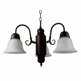 Manzanita Collection Contemporary Styled 3 Lights Chandelier in Dark Brown by Yosemite Home Decor