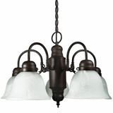 Manzanita Collection Elegant 5 Lights Chandelier with shade in Dark Brown by Yosemite Home Decor