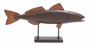 Marbella Magnificent Gripping Fish Art Brand Benzara